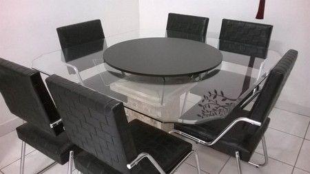 Prato Giratório Novo Pra Mesa de Jantar Decorativo 80 cm - Armazém Ubá