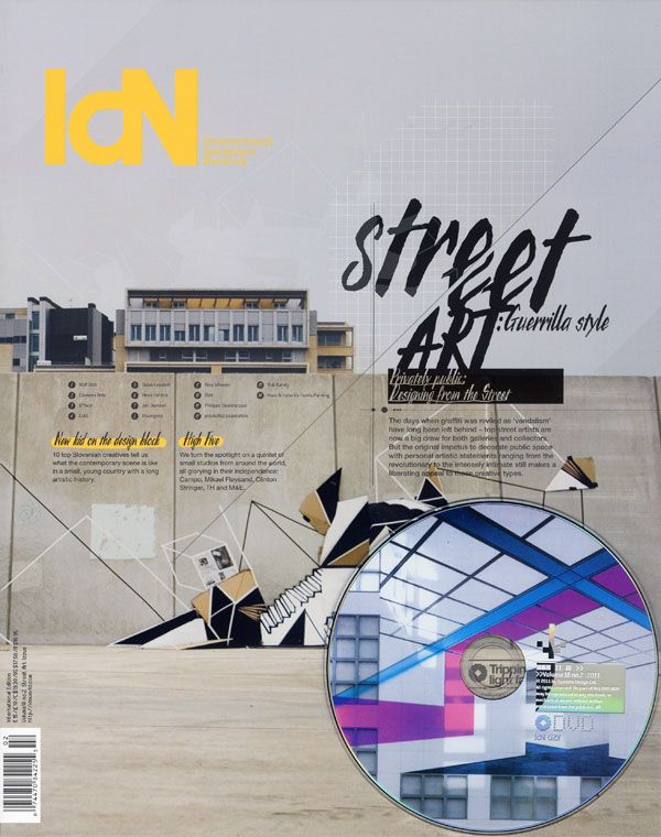 IdN v18n2: Street Art Issue — From vandalism to avant-garde  Más info y precio en:  http://arcadiamediatica.com/libro/idn-vol-18n2-street-art_11061