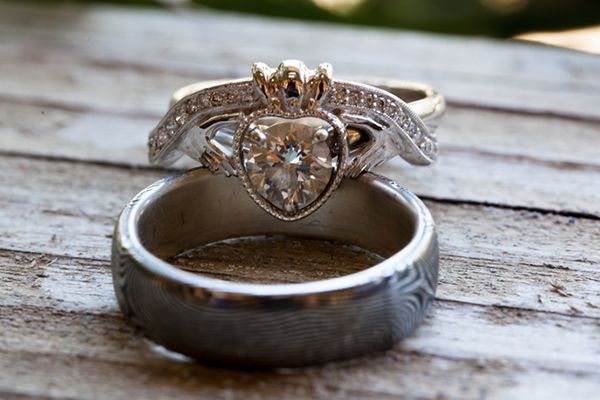 A Claddagh ring represents love (symbolized by the heart), friendship (symbolized by the hands), and loyalty (symbolized by the crown).