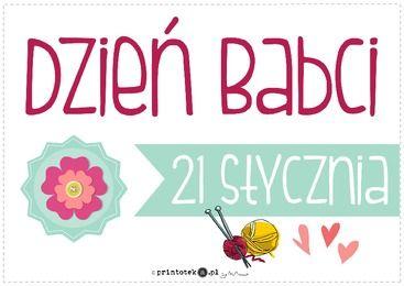 Dzień babci - plakat - Printoteka.pl
