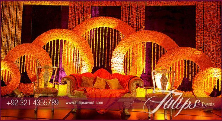 Rings Mehndi Stage Design photos in Pakistan