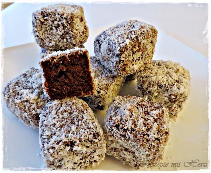Kuchen mit kokosraspeln und schokolade
