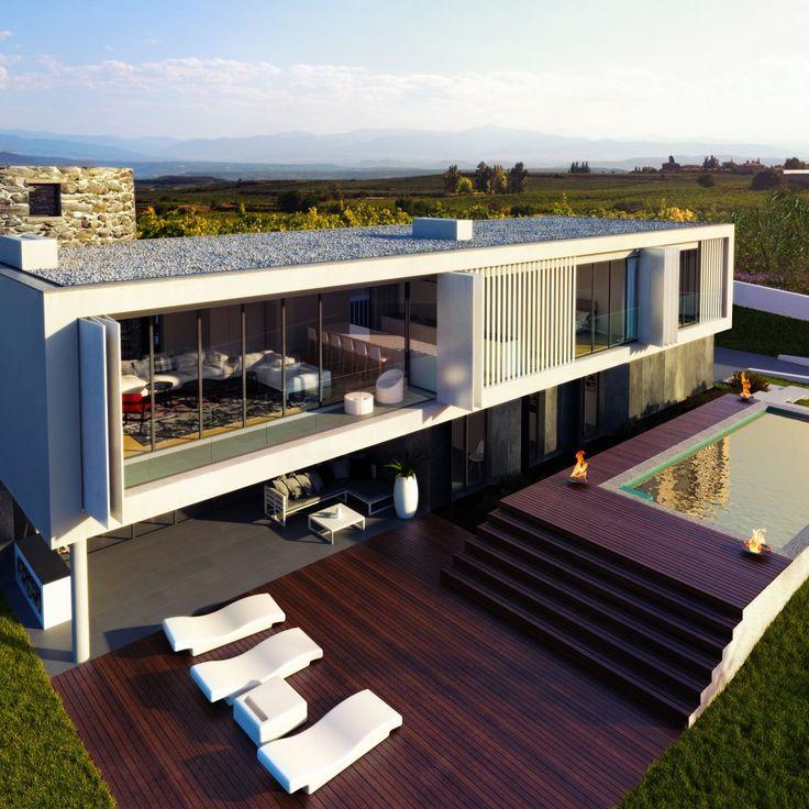 Maison individuelle à Foz de Arelho Portugal architecture #architectureportugal #arquitectura #matelier #interior #Portugal