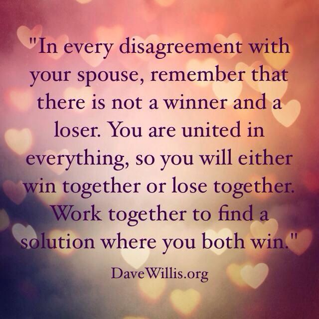 Dave Willis marriage advice