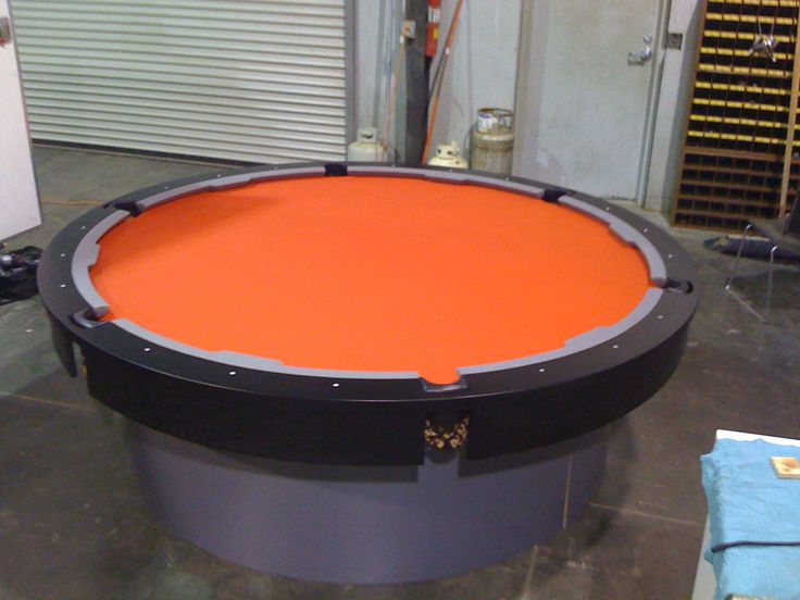 jm billiard creates round custom pool tables you choose wood colors and base you want and we offer 23 felt colors design your custom pool table today