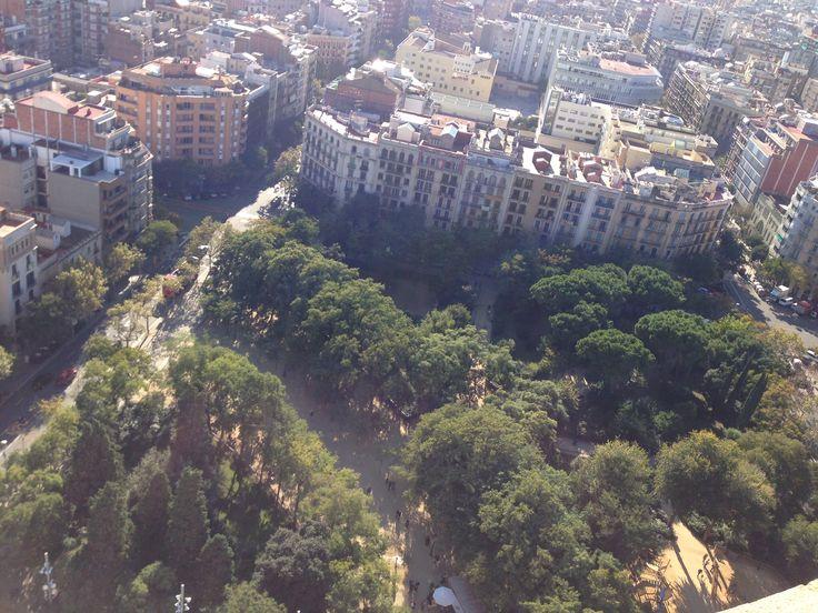 Top view from Sagrada Famillia,Spain