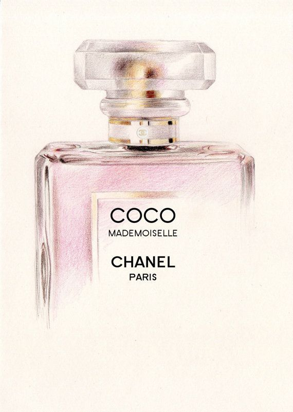 Tendance parfums Coco Mademoiselle Perfume Bottle A5 Colour by DominiqueKirkby 10.00