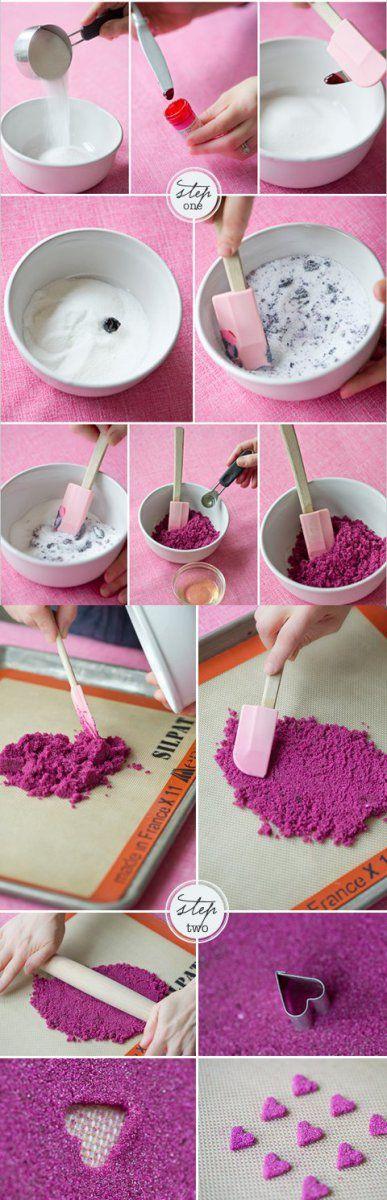 Сахарные сердечки для украшения тортов