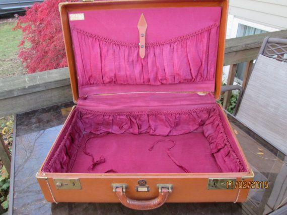 Antique/Vintage Kessler Luggage Suitcase Mens Luggage by RoseBarb