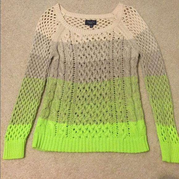 American Eagle sweater American Eagle ombré sweater. Only worn twice. American Eagle Outfitters Sweaters Crew & Scoop Necks