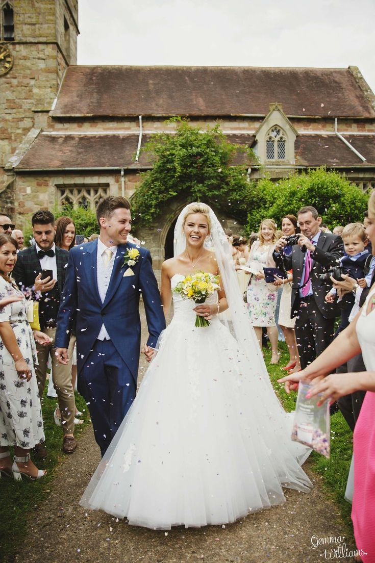 budget wedding photography west midlands%0A confetti outside Claines Church Worcestershire by Gemma Williams Photography   Wedding