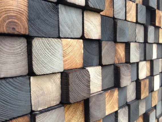 Wooden Art Wall Sculpture – Reclaimed wood – Rustic Sculpture