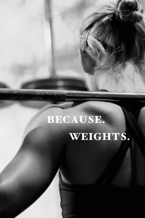 Girls who lift. Because, weights: