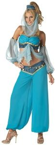 More Harems Jewel - Genie / Harem Girl Costume Adult Size    at NightmareFactory.com Arms to center scarf