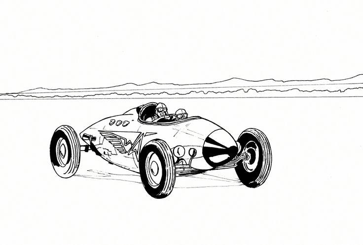 Fusée ou voiture ? illustration david voileaux copyright