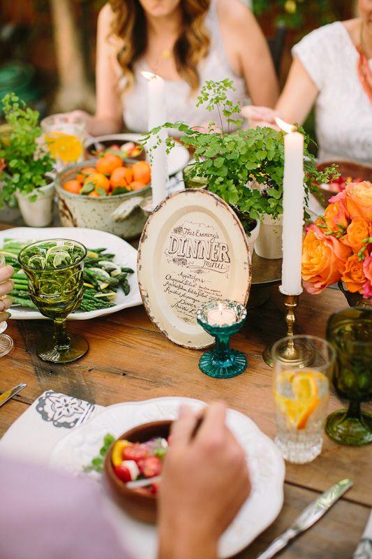 Intimate Dinner Party Wedding Inspiration Shoot Livermore CA San Luis Obispo Photographer Buffet Style WeddingWedding Food