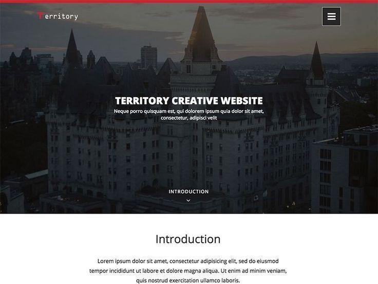 Territory - Plantilla gratis en HTML5 y CSS3 para inmobiliarias y constructoras
