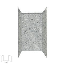 Transolid Decor Matrix Dusk/Stone Shower Wall Surround Side And Back Panels (Common: 36-In X 36-In; Actual: 96-In X 36-I
