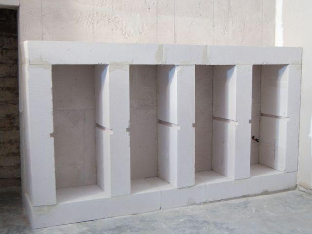 faire des etageres en beton cellulaire recherche google. Black Bedroom Furniture Sets. Home Design Ideas