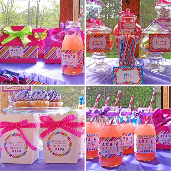 Sweet Shoppe Lollipop Birthday Party Decorations by 505design - goodie gable box