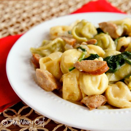This easy, 30-minute cheese tortellini with sausage recipe is a perfect weeknight meal that doesn't require much time or many dishes.