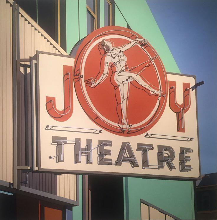 Robert Cottingham Joy Theatre, 2014 Oil on Canvas