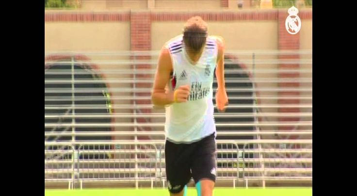 Youtube Real Madrids last training session at the UCLA facilities