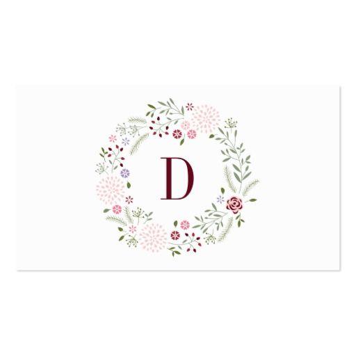 モノグラムの花柄 スタンダード名刺