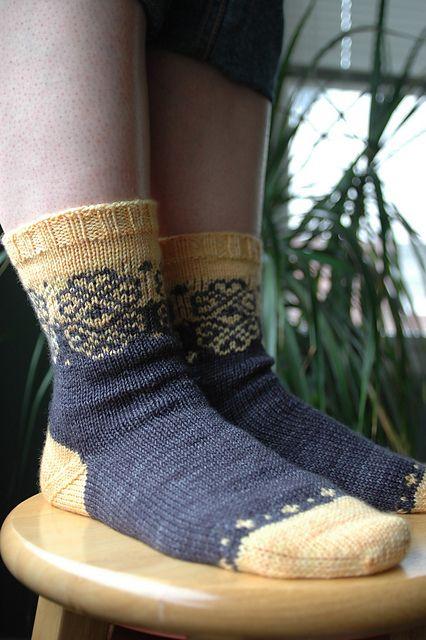Ravelry: Merripog Socks pattern by Jennifer Hagan