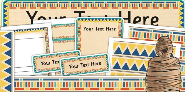 KS2 Ancient Egyptian Editable Display Pack- includes borders, posters, writing frames, labels and banners