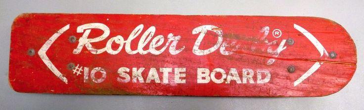 Vintage 1960's ROLLER DERBY SKATE BOARD #10 Original Skateboard w/ Steel Wheels #RollerDerby