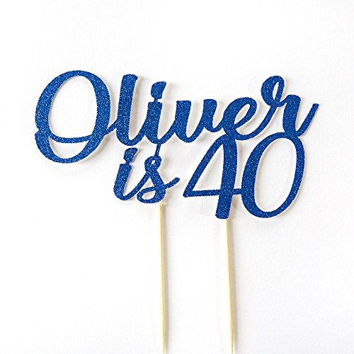 40th Birthday Cake Topper Party Decoration This Name Is Age