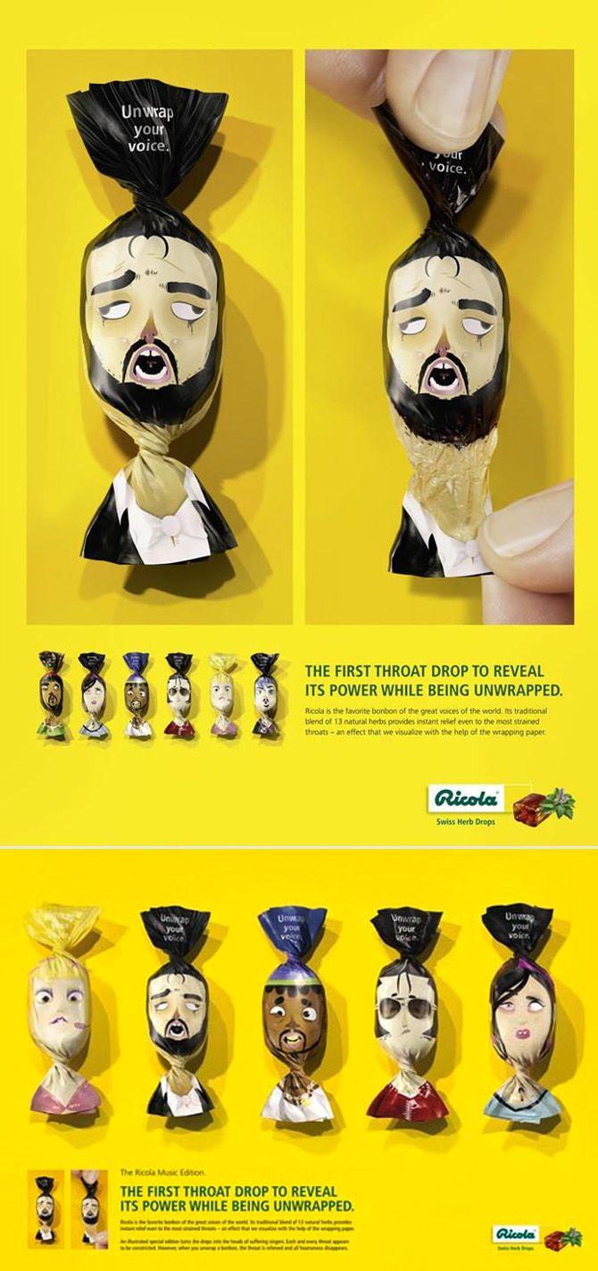 Richola throat drops packaging