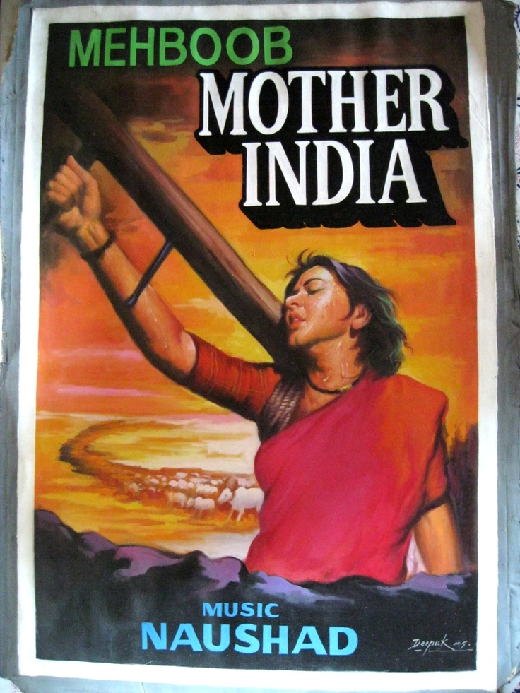 classic bollywood poster Mother India  #Timeless #Classic #Bollywood #Legend #MumbaiMatinee #Cafe #Delhi