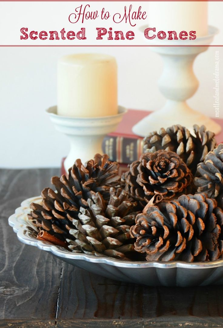 How to Make Scented Pine Cones with essential oils. This is so easy and better than the ones you can get from the store! Perfect for fall and Christmas!