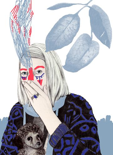 Laura Laakso #woman #illustration #animal