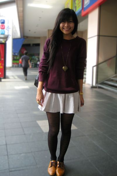 Pullover skirt winter look cute and comfortable for work
