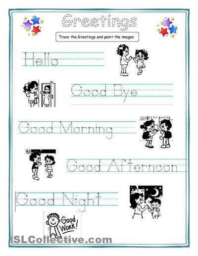 Greetings for kids worksheet - Free ESL printable worksheets made by teachers