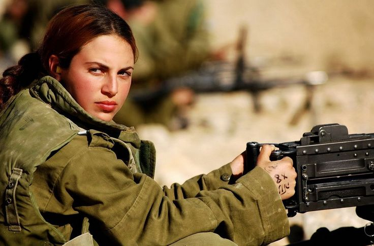 """Israel Defense Forces (IDF). 2007 - Gal Gadot, Israeli actress and model, formerly Miss Israel in 2004, photographed by Maxim for the """"Women of the Israeli Army"""""""