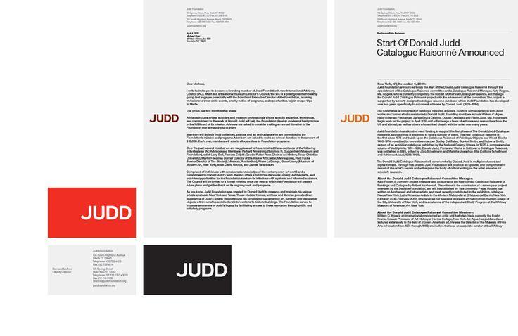 Judd Foundation – #stationery