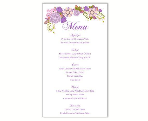 25+ parasta ideaa Pinterestissä DIY menu cards template - dinner card template