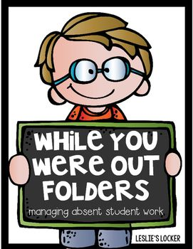 Collecting missed assignments for absent kiddos can be hectic! Here is a quick and easy way to organize their papers, and help get them caught up. You will find:* 2 folder cover options* inside pocket labels for work that needs to be completed and papers to keep at home* a letter to the absent student* a missed assignment checklistHappy Teaching!