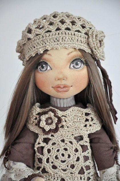Юдита - коричневый,текстильная кукла,авторская кукла,интерьерная кукла, pretty face