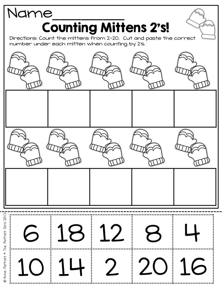 counting by 2s cut and paste kindergarten pinterest