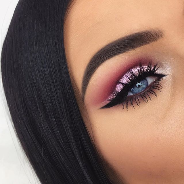 Tutorial on this dramatic valentine's look is now up on my channel  EYES Anastasia Beverly Hills Modern Renaissance Palette - Burnt Orange - Love Letter Anastasia Beverly Hills Hypercolor - In The Pink NABLA Cosmetics Creme Shadow - Christine Inglot Pure Pigment Eyeshadow - 111 NYX Loose Pearl Mania - Pearl MUA Intense Color Eye Liner Pencil - Berry Wine Inglot AMC Gel Eyeliner -77 House of Lashes - Iconic  BROWS Anastasia Beverly Hills Brow Wiz -Medium Brown Anastasia Beverly Hills Duo…