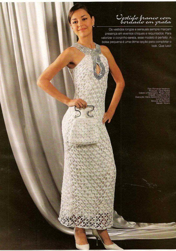 Como hacer un vestido de fiesta a crochet