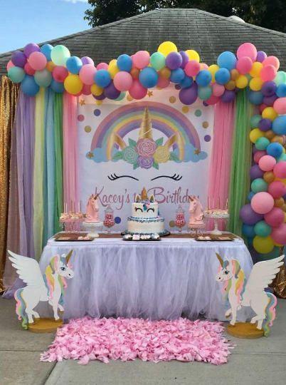 Unicorn Backdrop | Unicorn Birthday | Unicorn Digital Backdrop | Unicorn Decoration | Unicorn Party | Unicorn Head Backdrop (DIGITAL)