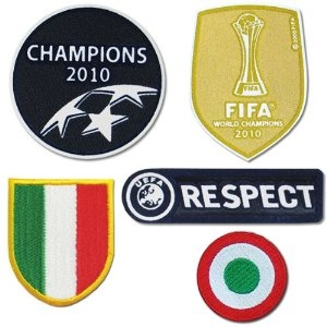 INTER MILAN UEFA Champion League 2010 Full Set Iron On Soccer Patch
