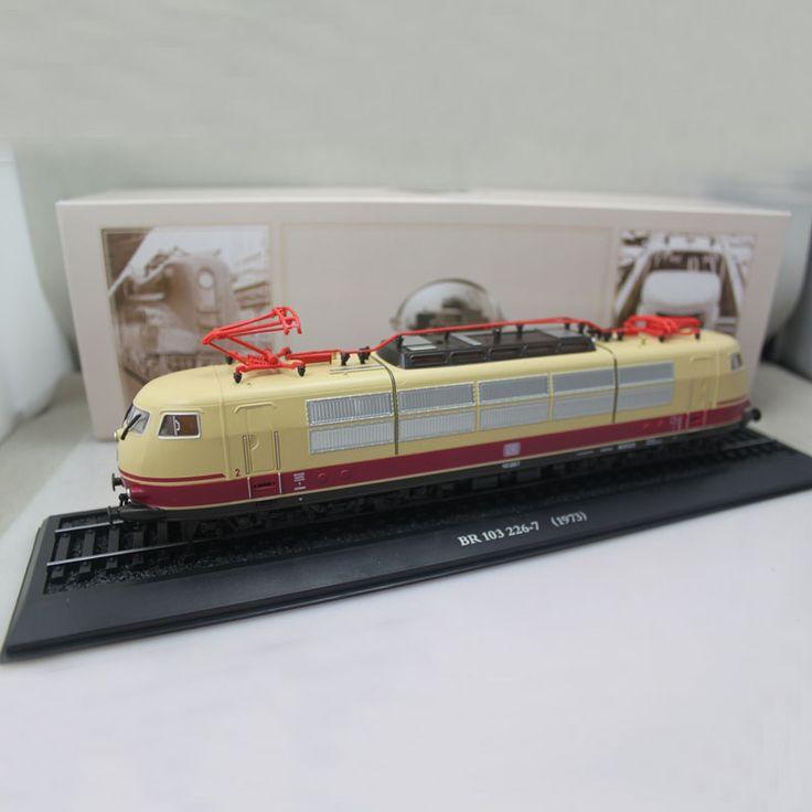 아틀라스 1/87 호 규모의 전차 지멘스 BR 103 226-7 1973 정적 기차 장난감 모델 AT019