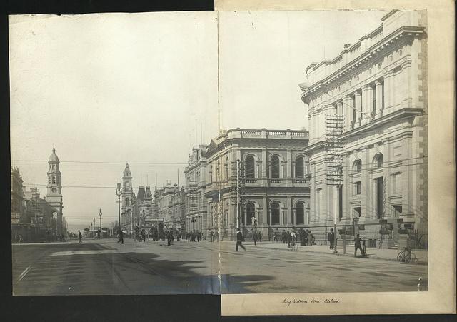 Description: King William Street, Adelaide. Location: Adelaide, South Australia, Australia Date: 1876